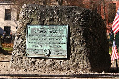 Marker of founding father Samuel Adams