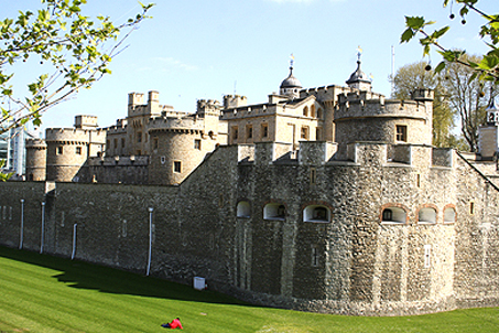 A corner shot of the Tower of London