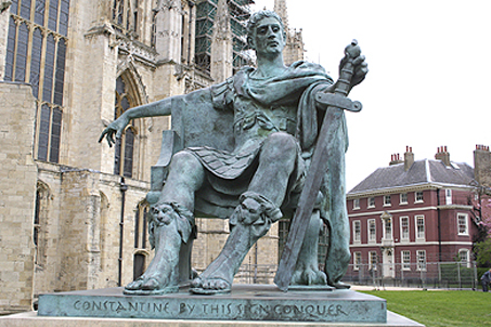 A wonderfully arrogant pose... Emperor Constantine