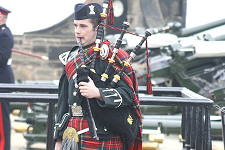 What's a trip to Scotland without bagpipes?
