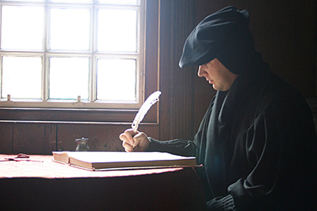 Stepping back in time — Matt dressed as John Knox