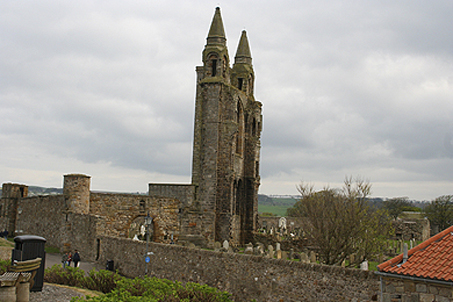 Cathedral across from the castle wherein Wishart was imprisoned and sentenced to death