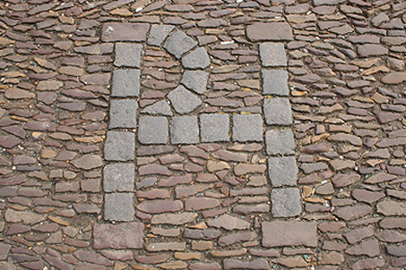 The spot where reformation hero Patrick Hamilton was burnt at the stake