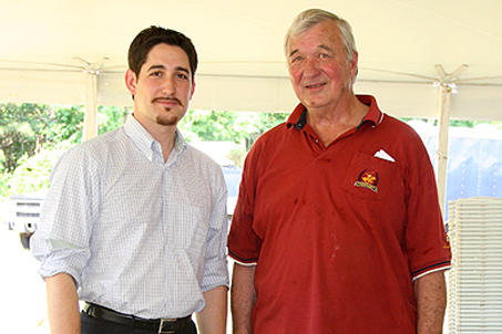 Harrison Tyler (Grandson of the 10th U.S. President) and me