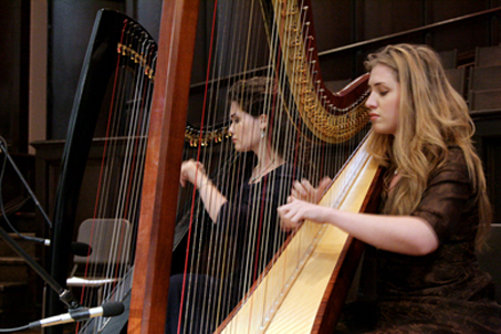 The sound of the Botkin girls' harps wafts through the air