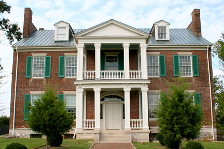 Front view of the home of the McGavocks—Carnton Plantation