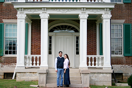 My wife and me on the doorsteps of the Carnton mansion