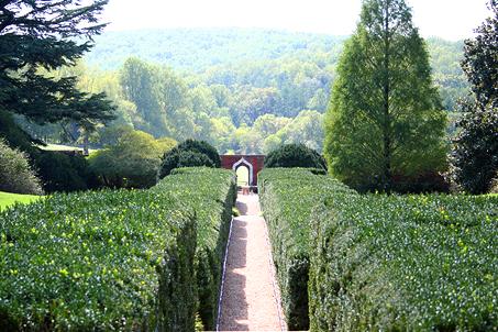 Annie duPont's formal garden