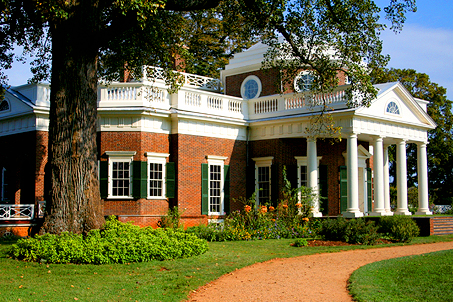 The back of Monticello as seen on the back of the nickel