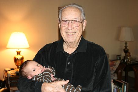 Calvin Blair with Great-Grandpa Garrett