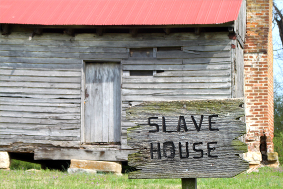 One of 15 Slave Houses on the Property (As Many as 75 Slaves Resided on the Plantation)