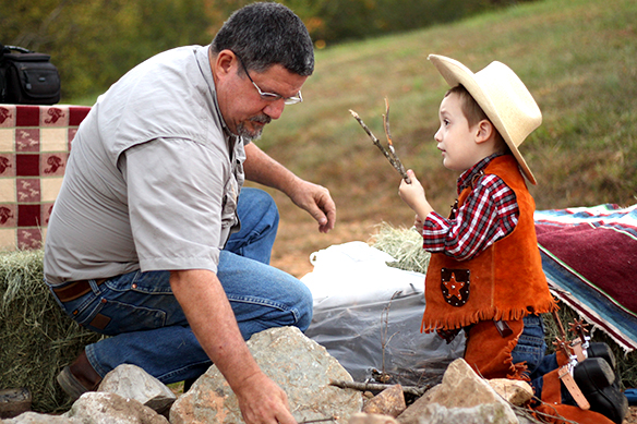Building a Real-Life Cowboy Campfire with Grandpa