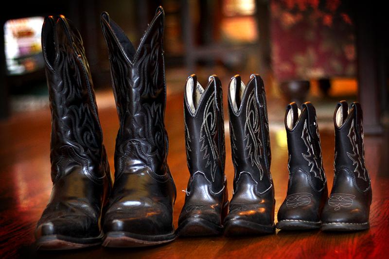 A portrait of fatherhood…in boots!