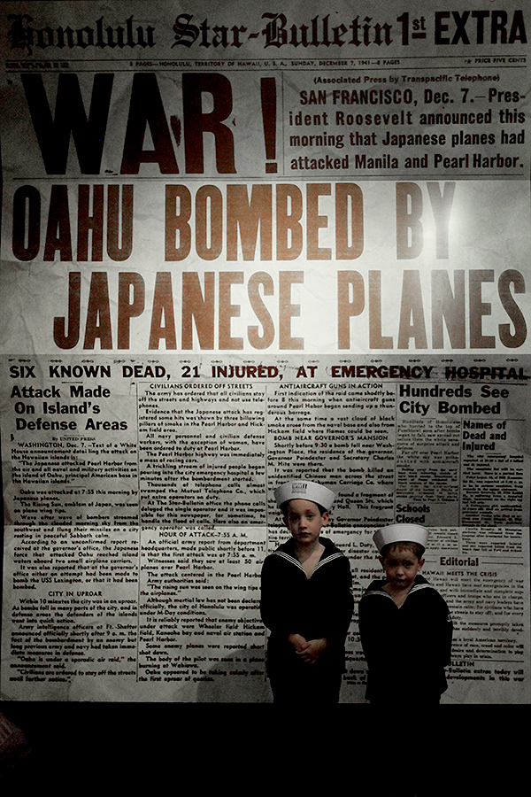 A Sobering Larger-Than-Life Newspaper Announces the Bombing of Pearl Harbor
