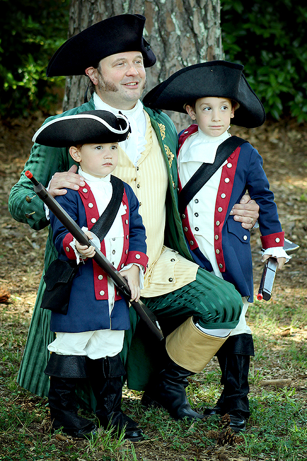 Fiery Christian statesman Patrick Henry and our boys after his famous speech