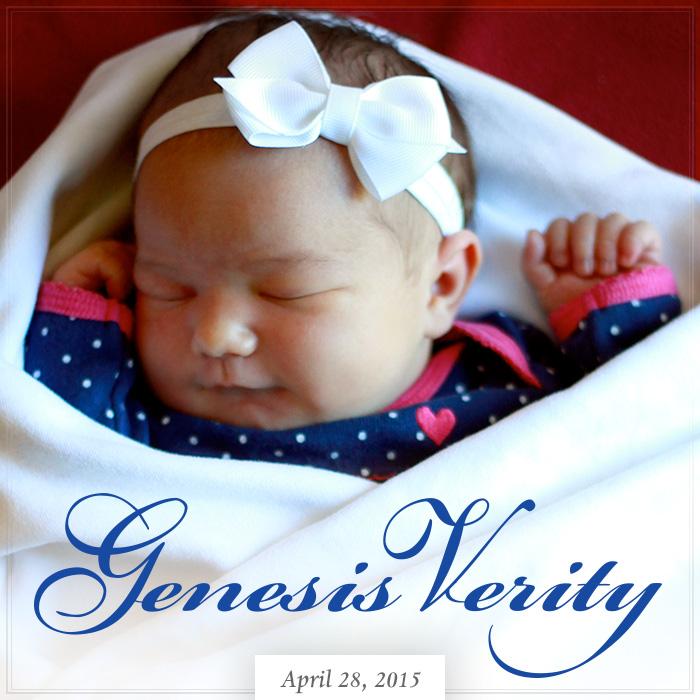 Genesis Verity Turley — Born April 28, 2015